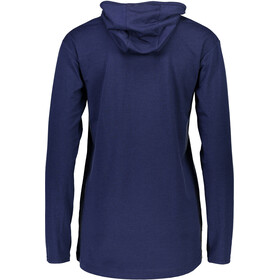 Mons Royale W's Paige Longline Wanaka LS Shirt Navy
